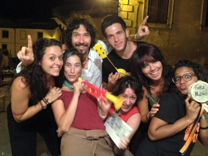 Fara Music Staff, with Marta, Giorgia, Anna, Stefania, Arunie and Gianluca